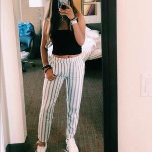 The cutest stripped pants!